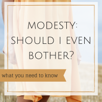 Modesty: Should I Even Bother?